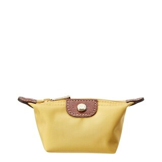 Longchamp Le Pliage Nylon Coin Purse, Yellow