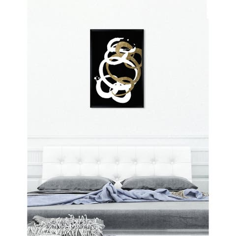 Oliver Gal 'Formas Inverse Gold' Abstract Framed Wall Art Print