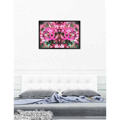 Oliver Gal 'Double Blooming Fashion' Abstract Framed Wall Art Print