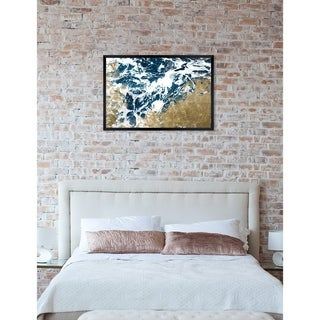 Oliver Gal 'Dreams of the Sea' Nautical Framed Wall Art Print - Blue, Gold