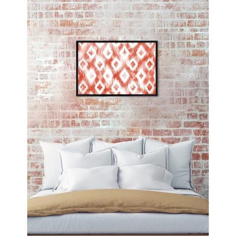 Oliver Gal 'Naranjada' Abstract Framed Wall Art Print
