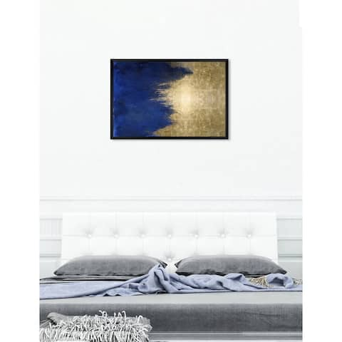 Oliver Gal 'Light symphony in Blue' Abstract Framed Wall Art Print
