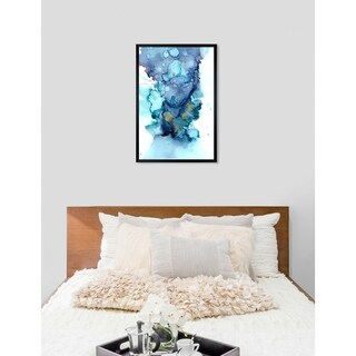 Oliver Gal 'Jamie Blicher - Whitney' Abstract Framed Wall Art Print - blue, teal