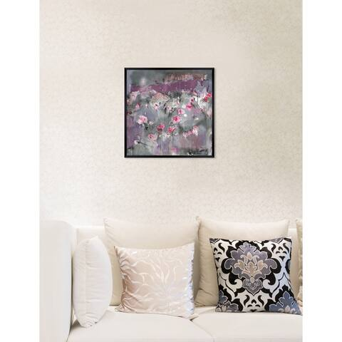 Oliver Gal 'Michaela Nessim - Subtle radiance grey' Abstract Framed Wall Art Print