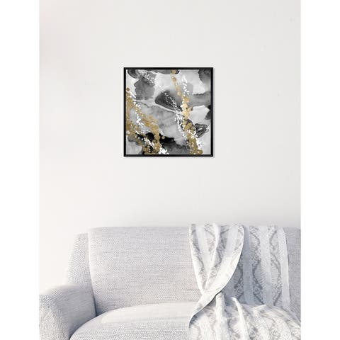 Oliver Gal 'Even More Love SILVER GOLD' Abstract Framed Wall Art Print