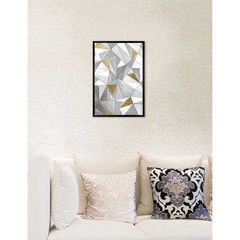 Oliver Gal 'Triangular Wall' Abstract Framed Wall Art Print