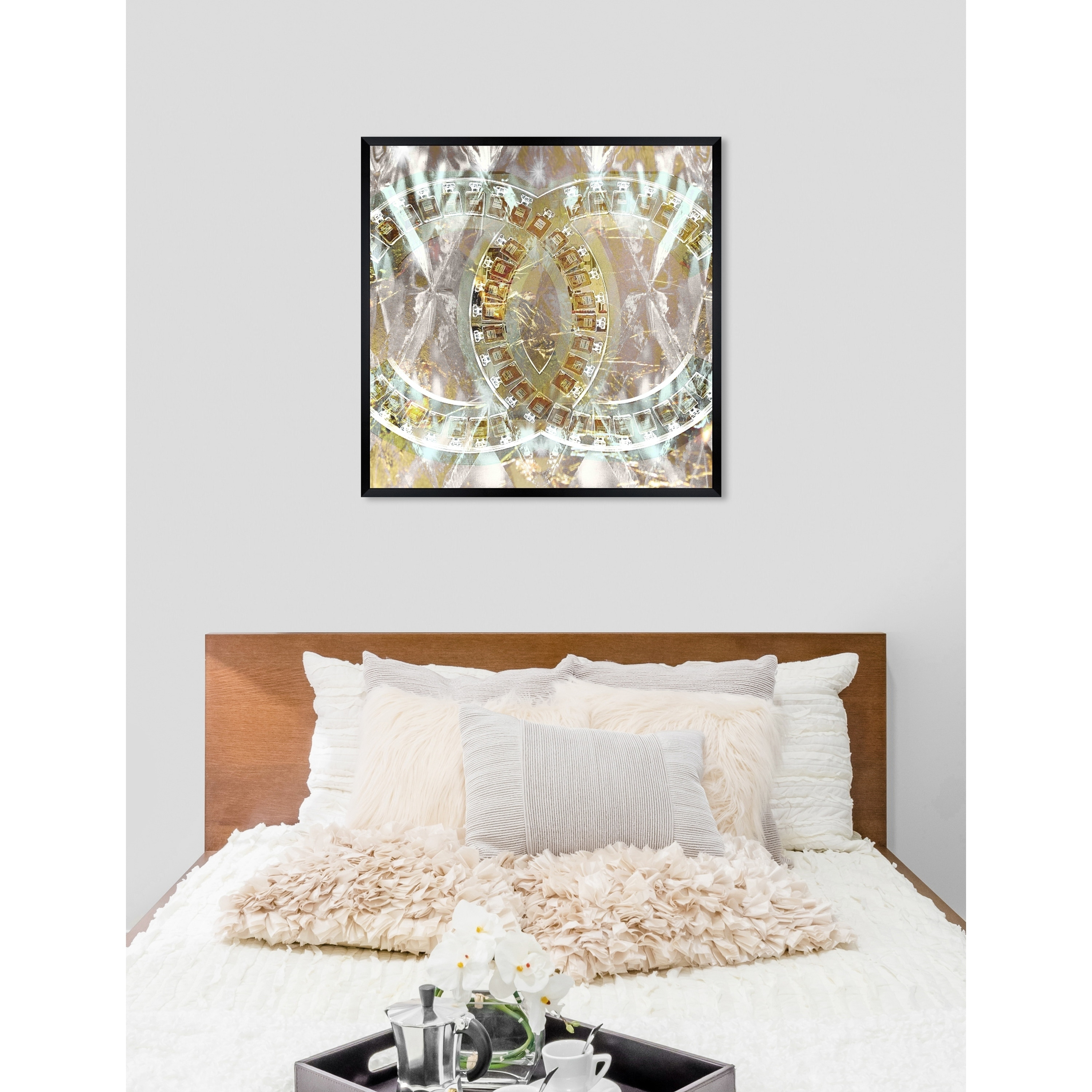 Oliver Gal Gilded Diamonds Abstract Framed Wall Art Print Overstock 24149048
