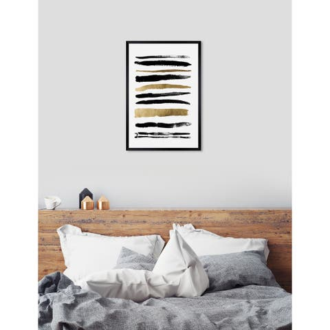 Oliver Gal 'Get In Line' Abstract Framed Wall Art Print