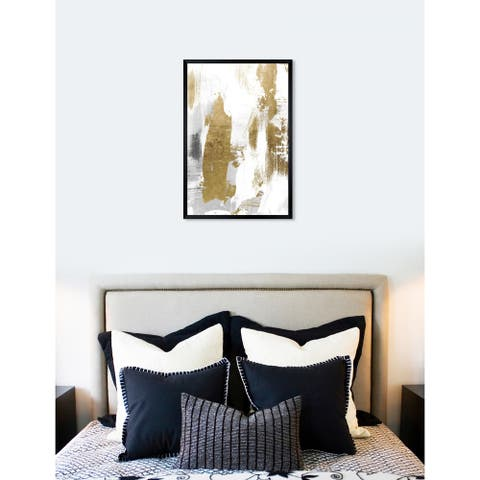 Oliver Gal 'A Dash of Gold' Abstract Framed Wall Art Print