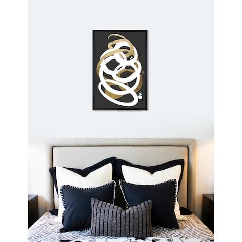 Oliver Gal 'Formas Dark Gray' Abstract Framed Wall Art Print