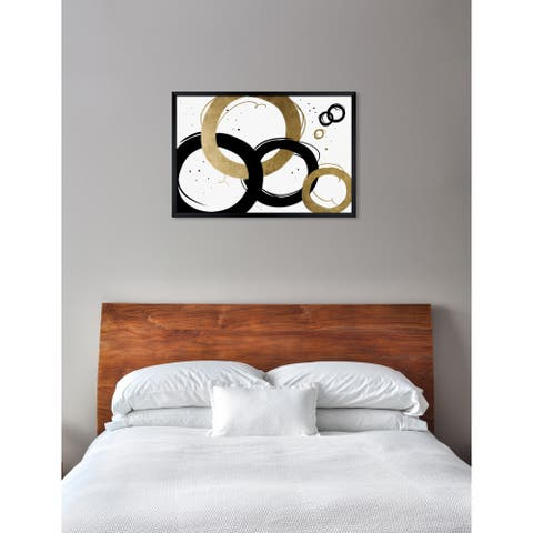 Oliver Gal 'Infinite Circles' Abstract Framed Wall Art Print