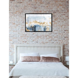 Oliver Gal 'Eight Days a Week' Abstract Framed Wall Art Print - Blue, Gold