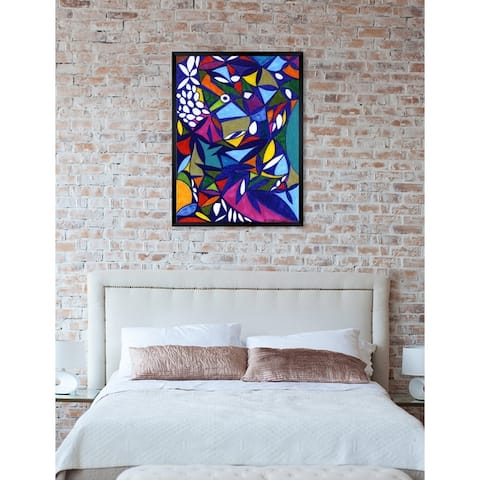 Oliver Gal 'Rainforest' Abstract Framed Wall Art Print