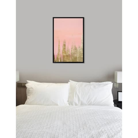 Oliver Gal 'Blush Gold Amour' Abstract Framed Wall Art Print