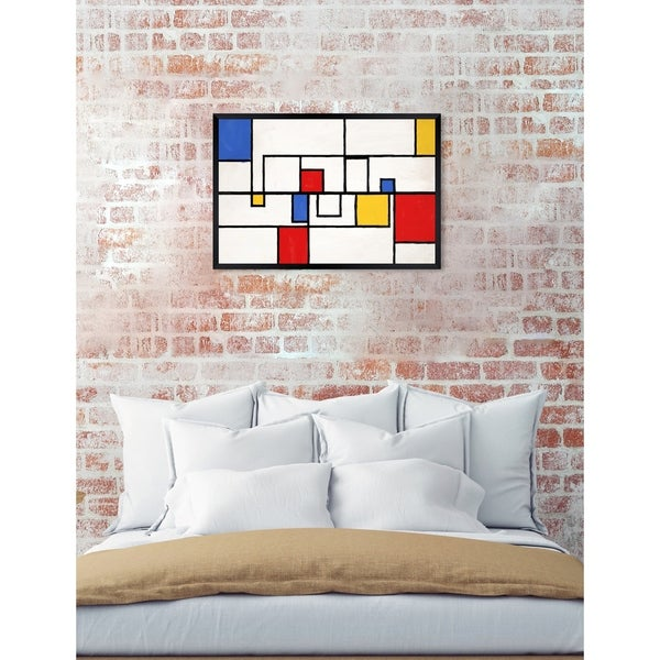Oliver Gal 'Hidden Corners' Abstract Framed Wall Art Print. Opens flyout.