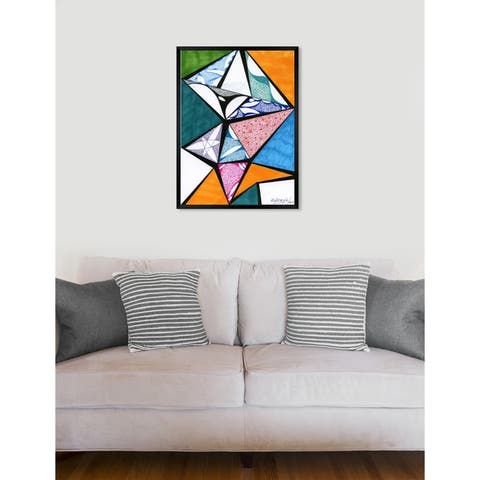 Oliver Gal 'Divided' Abstract Framed Wall Art Print