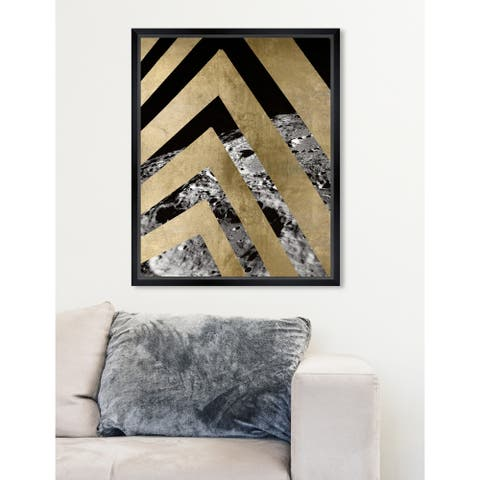 Oliver Gal 'Moon Perspective' Abstract Framed Wall Art Print