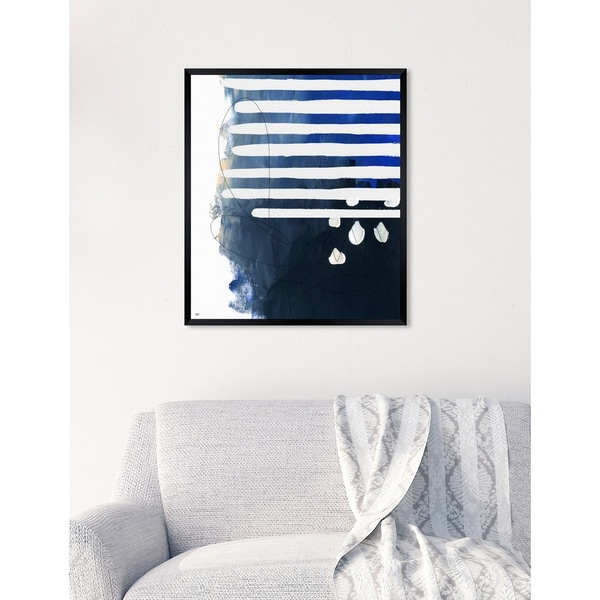 Oliver Gal 'Oceanico' Abstract Framed Wall Art Print. Opens flyout.