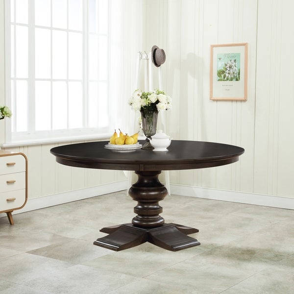 Shop Best Quality Furniture Round Cappuccino Dining Table