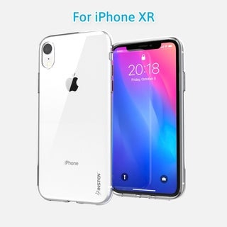 "iPhone XR Clear Case, INSTEN Ultra Slim [Drop Protection] Soft TPU Crystal Clear Back Cover for Apple iPhone XR 6.1"" (2018)"