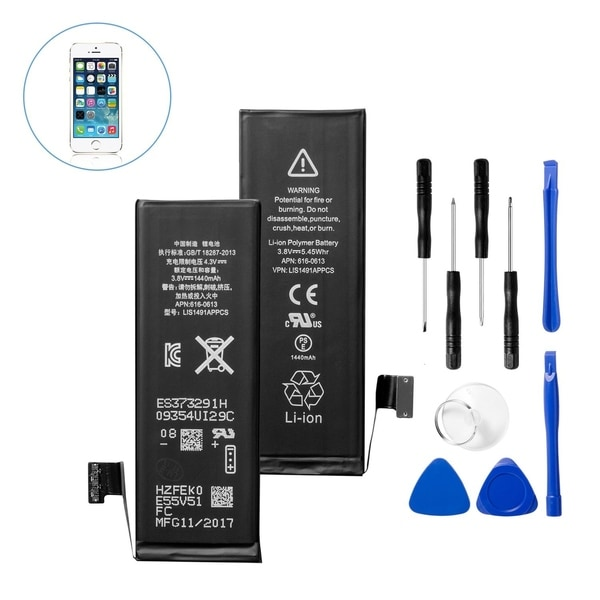 Insten Replacement Standard Battery with Repair Tool Kits for Apple iPhone 5 (Model: A1428, A1429)