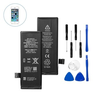 Insten Replacement Standard Battery with Repair Tool Kits for Apple iPhone 5s (Model: A1453, A1457, A1528, A1530, A1533)