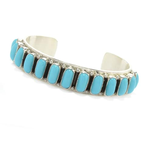 """Pinctore Sterling Silver 6.25"""" or 7"""" Sonora Beauty Turquoise Bracelet"""