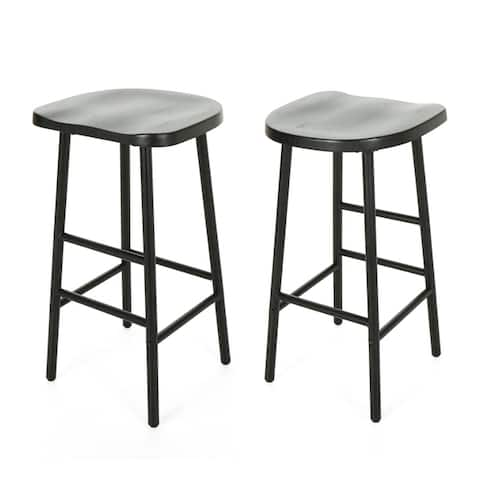Merlyne Pine Bar Stools (Set of 2) by Christopher Knight Home