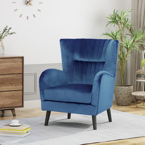 Woodrow Modern Velvet Club Chair by Christopher Knight Home