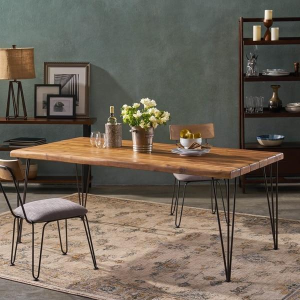 Shop Zion Indoor 72 Rectangular Acacia Wood Dining Table