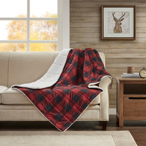 Woolrich Linden Oversized Sofstpun Down Alternative Throw