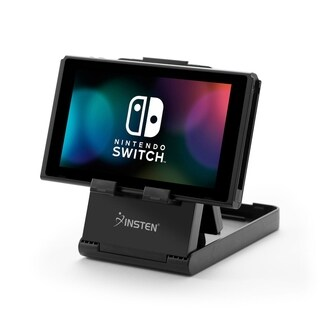 INSTEN Universal Compact Stand [Multi-Angle Adjustable] Foldable with Charging Port Access for Nintendo Switch/ Smartphones