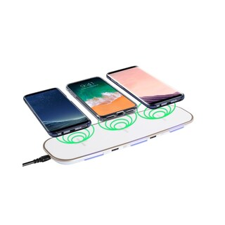 Qi Wireless Charger, INSTEN 3-in-1 Wireless Charging Pad with 2 USB Ports for iPhone X/ XR/ XS Max/ 8/ Samsung Galaxy S9/ S9+