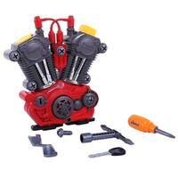 Dimple DC12751 Take Apart Toy Engine & Tool Set for Kids Build Your Own Engine with Set of 20 Tools Educational Toy - Red