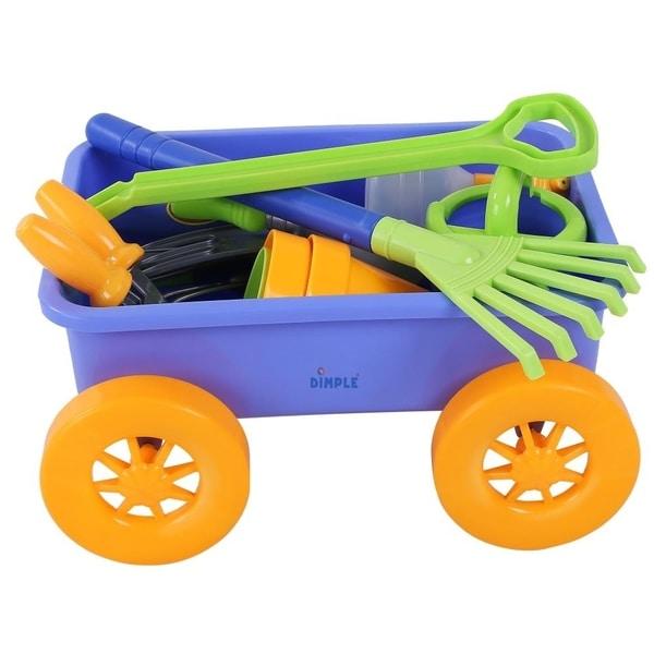 . Dimple DC12752 Premium 15 Piece Gardening Tools   Wagon Toy Set Sturdy    Durable Top Yard  Beach  Sand  Garden Toy