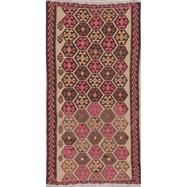 Shop Geometric Kilim Shiraz Persian Rug For Entryway