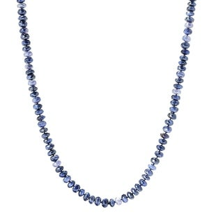 """Pinctore 35"""" Blue Moonstone Endless Beaded Necklace"""