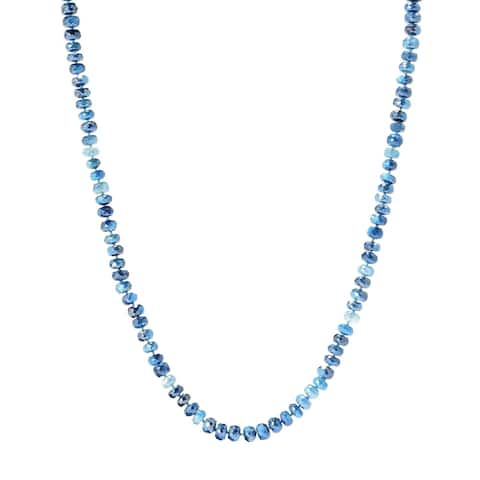 """35"""" Teal Moonstone Endless Beaded Necklace"""