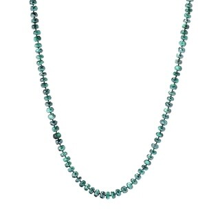 """Pinctore 35"""" Green Moonstone Endless Beaded Necklace"""