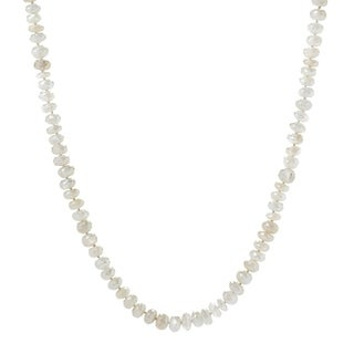 """Pinctore 35"""" White Moonstone Endless Beaded Necklace"""