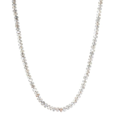 """Pinctore 35"""" Grey Moonstone Endless Beaded Necklace"""