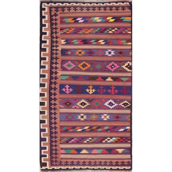 """Gracewood Hollow Shirvanzade Hand Blend Shiraz Persian Persian Rug - 8'11"""" x 3'6"""" runner"""
