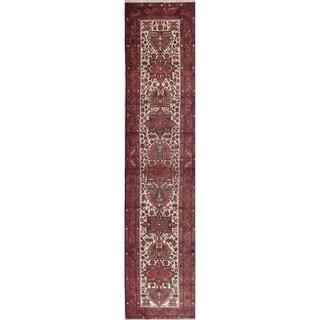 "Copper Grove Skagen Handmade Ivory Tribal Geometric Wool Persian Vintage Rug - 13'10"" x 3'1"" runner"