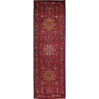 "Copper Grove Helsinge Handmade Antique Geometric Tribal Persian Wool Rug - 12'10"" x 3'5"" runner"
