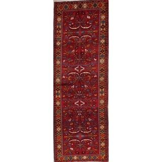 """Gracewood Hollow Edoyan Knotted Blend Red Floral Floral Rug - 10'6"""" x 3'7"""" runner"""