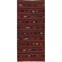 "Copper Grove Struer Hand Woven Geometric 100-percent Wool Persian Rug - 8'10"" x 3'11"" runner"