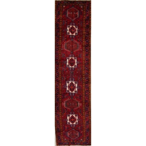 "Copper Grove Lahti Geometric Handmade Wool Heirloom Item Runner Rug - 14'10"" x 3'9"" runner"