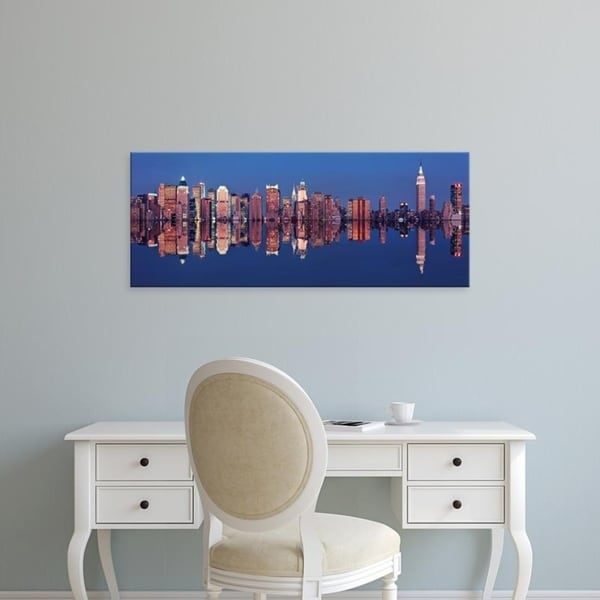 Easy Art Prints Panoramic Images's 'Skyscrapers at the waterfront, New York City, New York State, USA' Premium Canvas Art