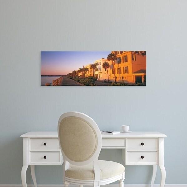 Easy Art Prints Panoramic Images's 'Antebellum Architecture Battery Charleston SC' Premium Canvas Art