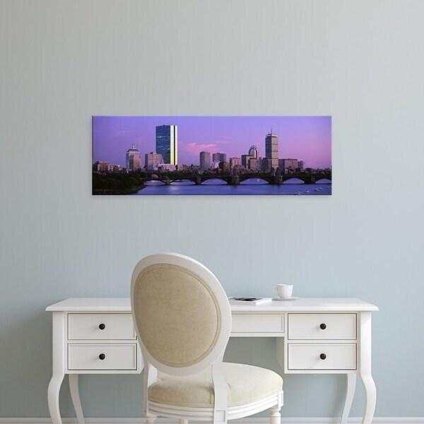Easy Art Prints Panoramic Images's 'Boston MA' Premium Canvas Art